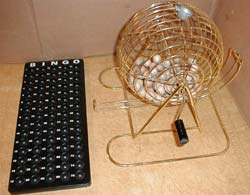 Brass-Plated Metal Bingo Cage Set